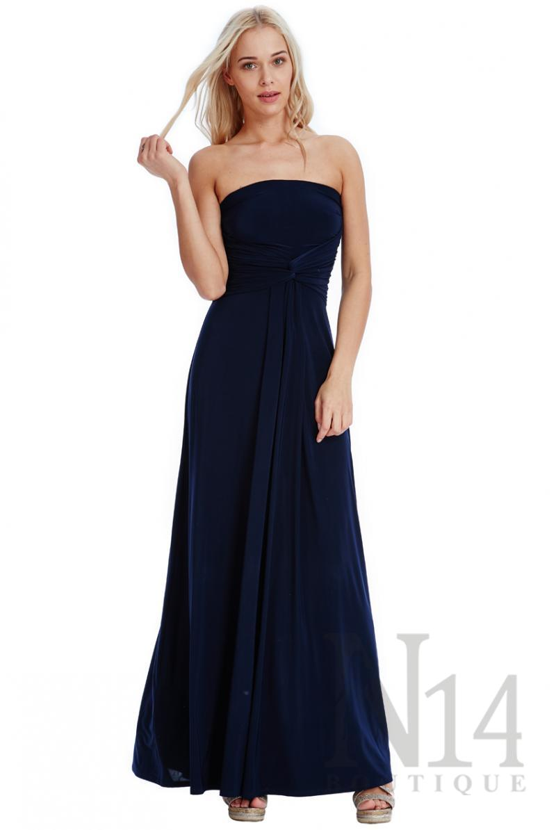 Дълга рокля с преплетен детайл